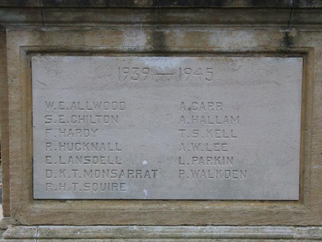 The War Memorial detail 1