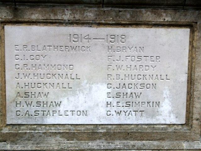 The War Memorial detail 2