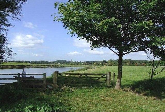 Riverside meadows from Trent Lane