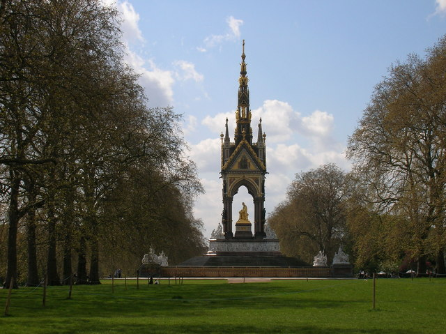 London, Hyde Park, Prince Albert Memorial, from side