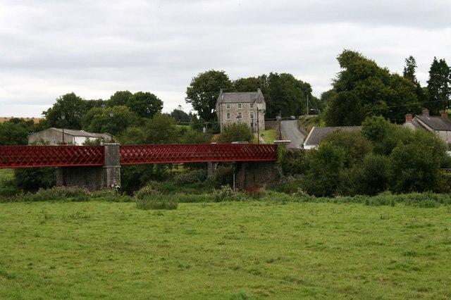 Ballyduff Garda Station from across the river