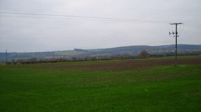 Open countryside near Westbury