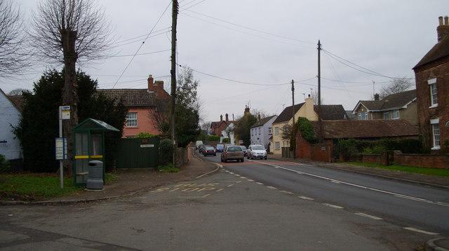 A48 through Westbury on Severn