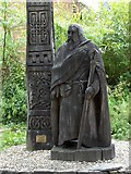 SN1645 : Statue of St Dogmael by Lyn Haigh