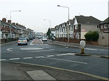 SU1585 : North along County Road, Swindon by Brian Robert Marshall