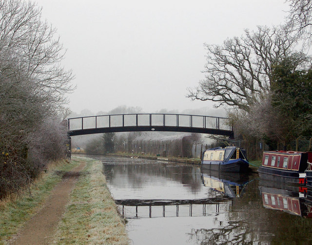 Canal footbridge near Hatton