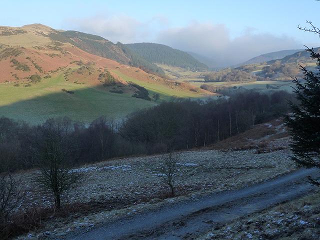 The Mynach valley in winter