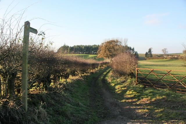 Bridleway to Sleastonhow