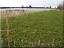 SK5031 : Field and Gravel pit at Cranfleet Lock by Andy Jamieson