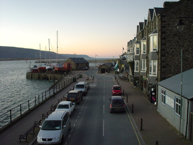 Barmouth Quay at sunrise