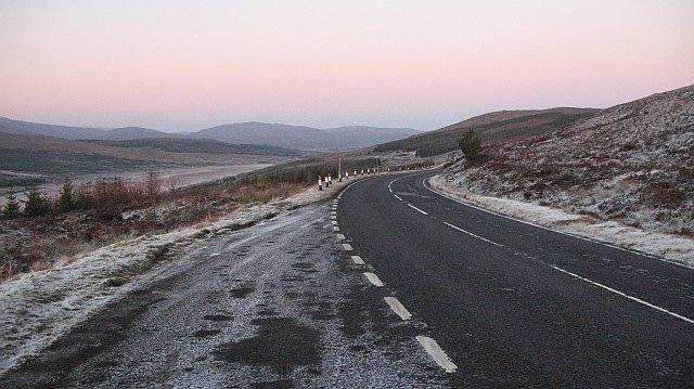 A87 above Loch Loyne