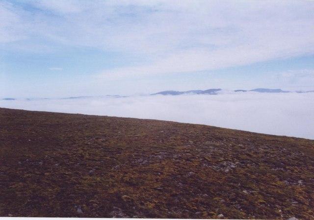 Cloud sea from Sgarsoch Beag ridge.