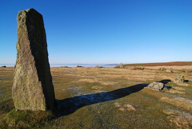 Part of Mitchell's Fold Stone Circle