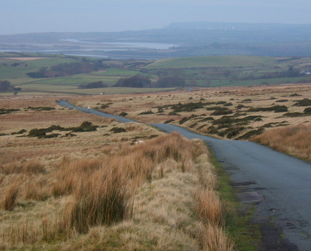 View down Corney Fell road