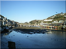 SX2553 : Looe Harbour looking upstream by Richard Law