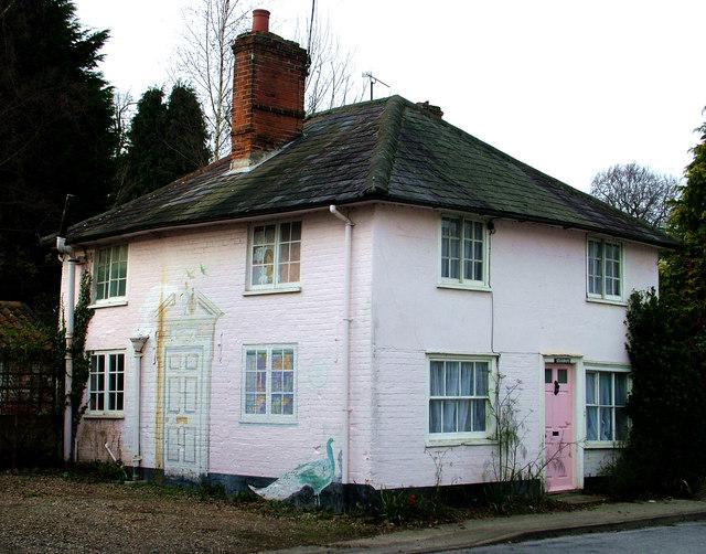Trompe l'oeil house, Yoxford