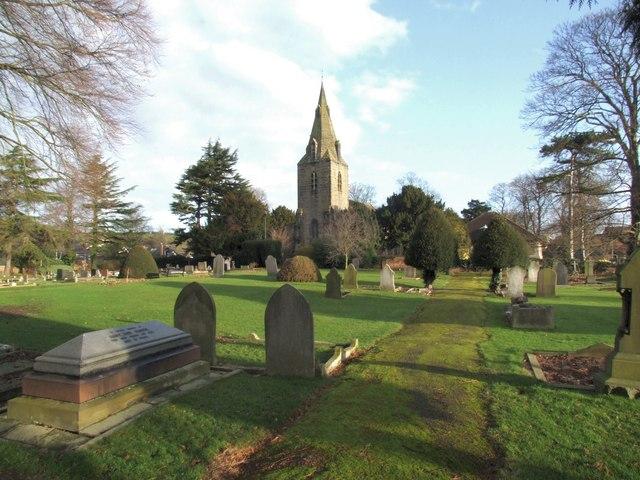 Saint Helen's Church and yard, Burton Joyce