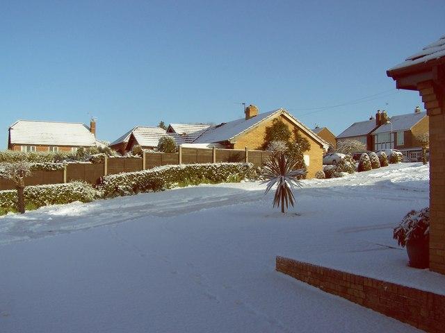 Snow in Coton Road