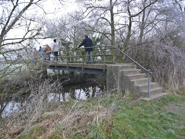 Footbridge on River Blythe near Barston