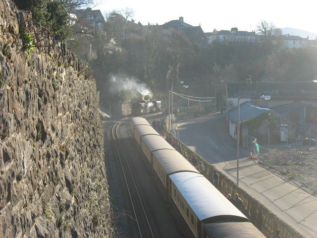 The Welsh Highland Railway Station at Caernarfon