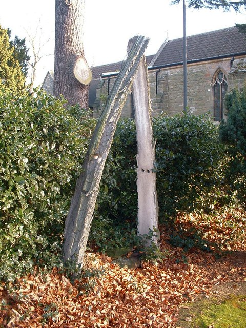 Whale bone arch in the graveyard at St Helen's Church