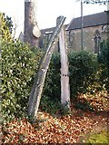 SK6443 : Whale bone arch in the graveyard at St Helen's Church by johnfromnotts