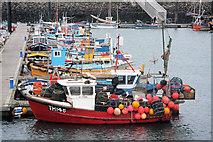 SW4628 : Fishing boats in Newlyn Harbour by Bob Jones