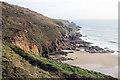SW5926 : Porthcew beach by Bob Jones