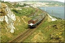 J4791 : Railway near Whitehead by Albert Bridge