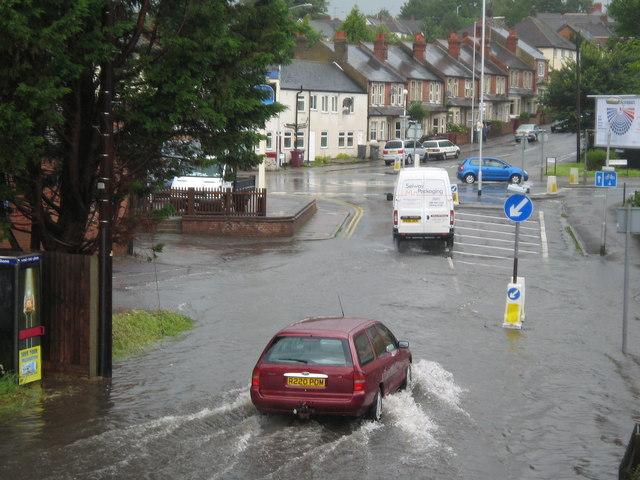 Flash flood in Star Road