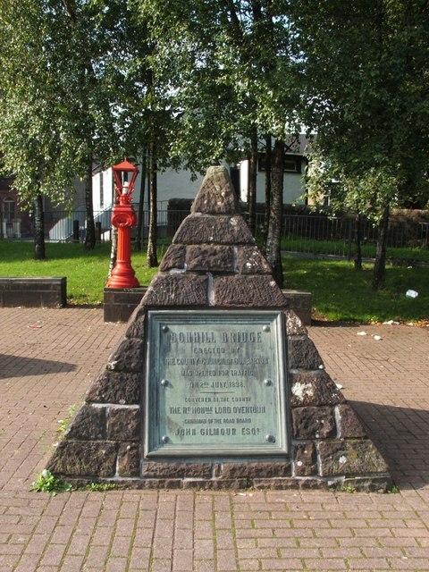 Pyramid with Bonhill Bridge plaque