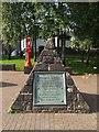 NS3979 : Pyramid with Bonhill Bridge plaque by Lairich Rig