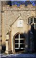 TL7963 : Church porch and sundial, Little Saxham by Bob Jones