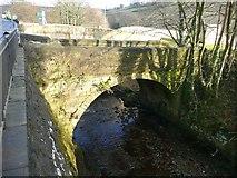 SE1307 : Old bridge over the River Holme, off Woodhead Road, Holmfirth by Humphrey Bolton