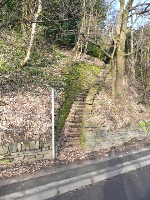 Footpath from Modd Lane, off Woodhead Road, Holmfirth