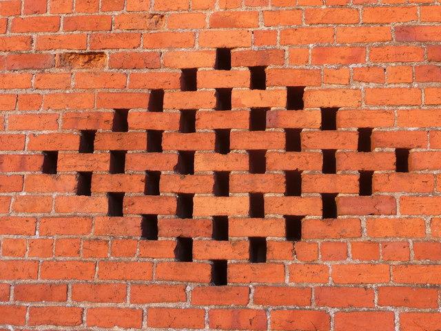 Vents in a brick barn