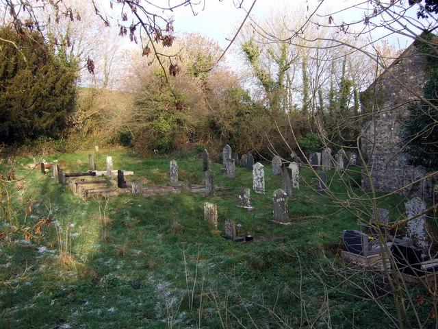 Beulah graveyard in winter