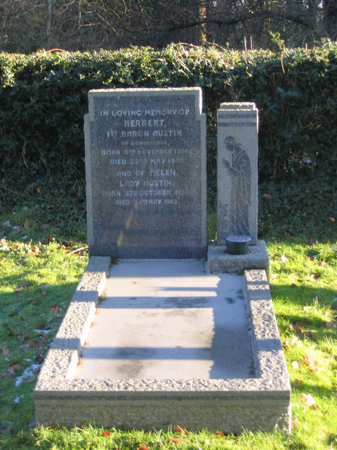 Grave of Lord and Lady Austin - Herbert Austin the motor manufacturer.