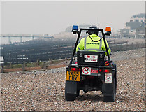 TQ1602 : Beach Patrol Inspector, Worthing, West Sussex by Roger  Kidd