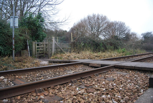 Level crossing on the Exmouth line