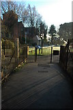 SP0343 : Entrance to Abbey Park, Evesham by Philip Halling
