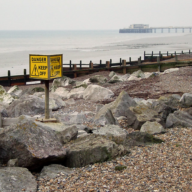 Granite and Groynes, East Worthing, West Sussex