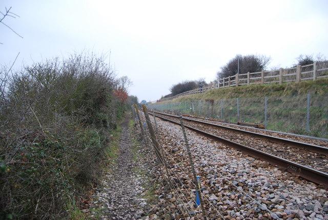 East Devon Way along the railway line