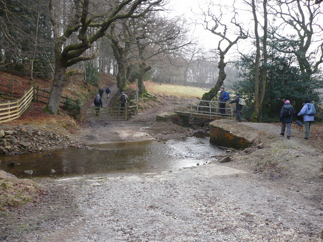 Ford and footbridge north of Cowhouse Bank