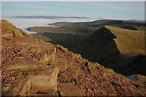 SO0121 : Rocky path near the summit of Pen y Fan by Philip Halling