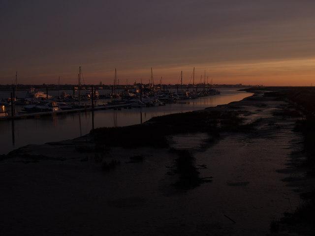 Essex Marina on a Winter Morning