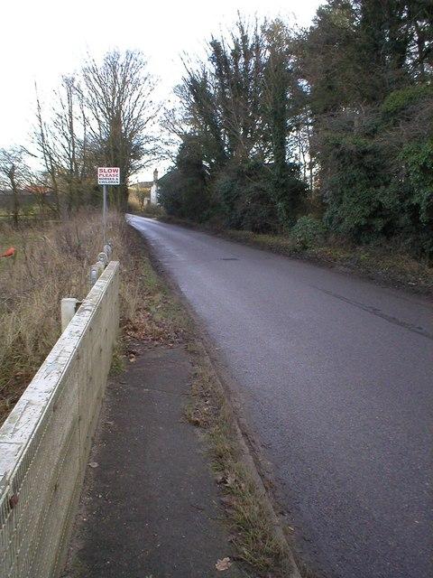 Bridge over River Wissey towards Erneford House