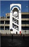 TQ3303 : Stairwell, Car Park, Brighton Marina by Simon Carey