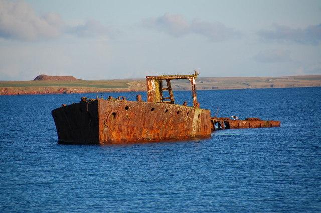 Wreck of the Juniata, Inganess Bay