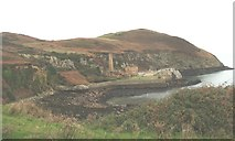 SH4094 : The quays at Porth Wen brick works at low water by Eric Jones